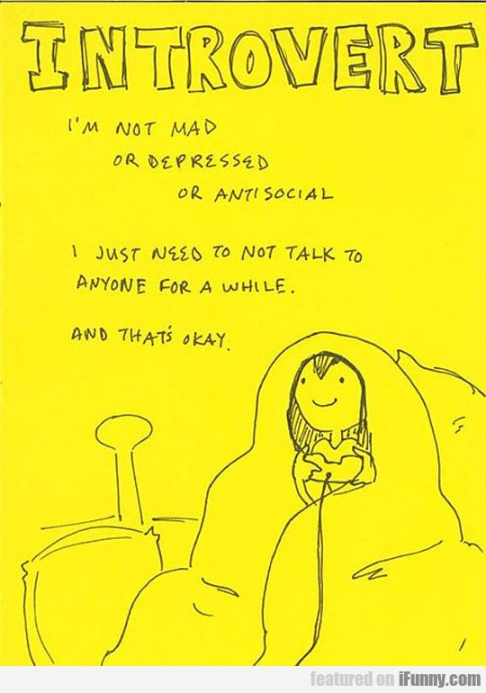 I'm Not Mad Or Depressed Or Antisocial